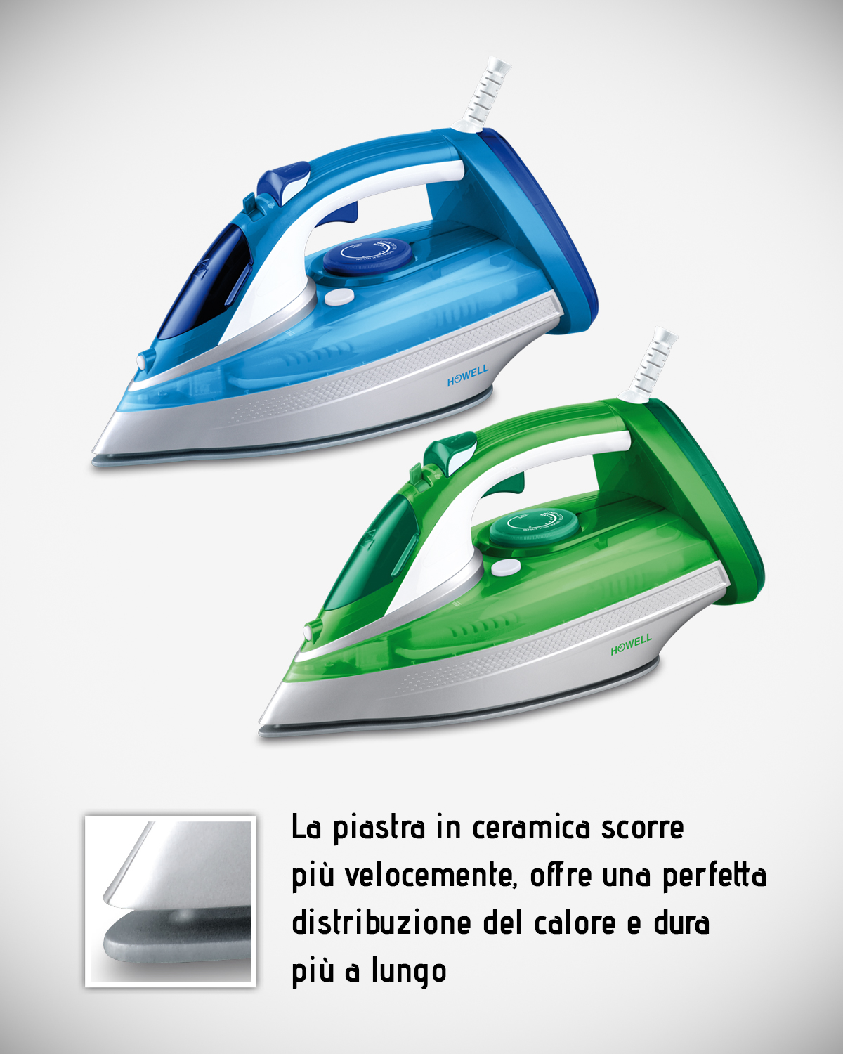 Professional steam iron with ceramic soleplate HO.HFX363PRO