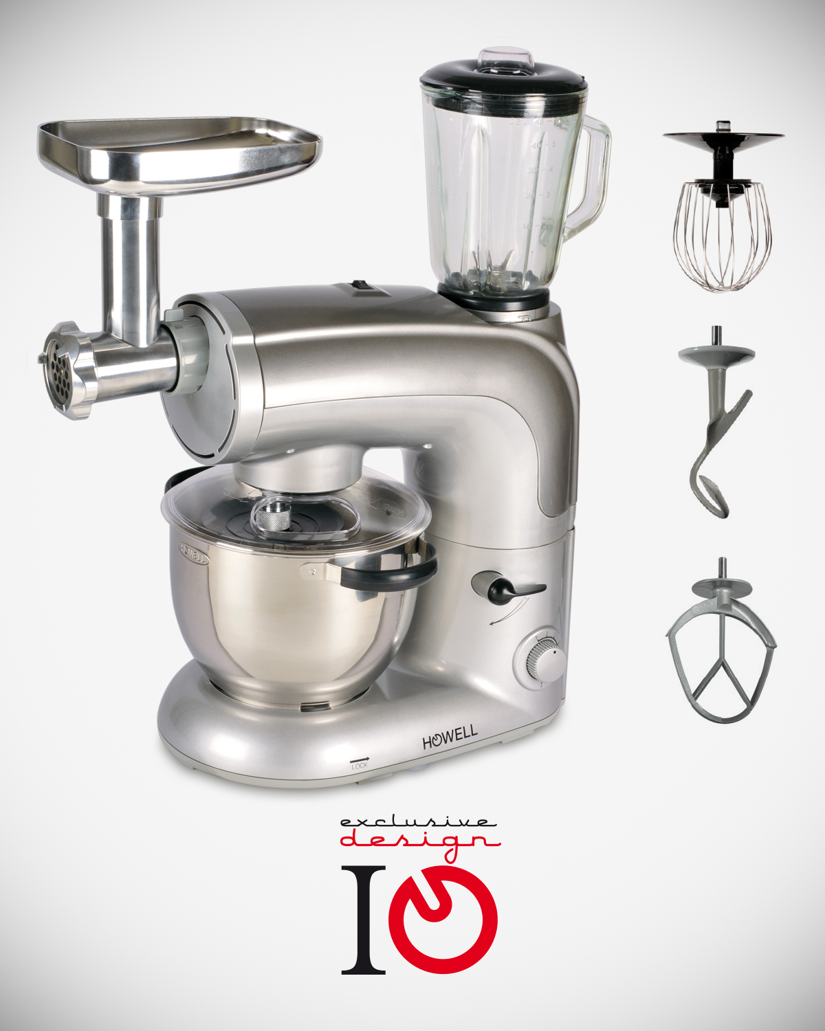 Professional planetary multifunctional stand mixer HO.HIMP886FULL